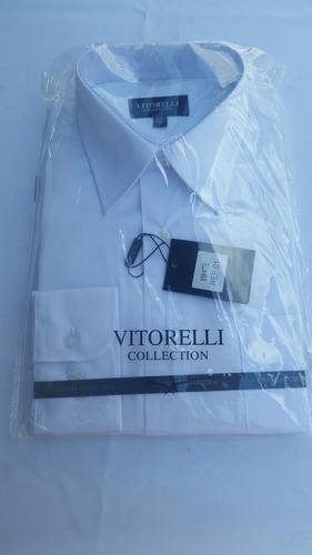 camisa social masculina manga longa vitorelli tamanho: 3/40