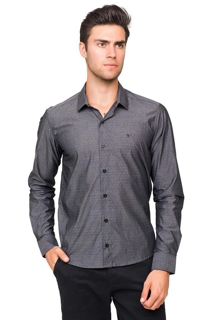 dd12903395 camisa social masculina maquinetada de algodão azul. Carregando zoom.