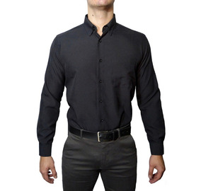 741eafdb9a Camisa Social Masculina Manga Longa - 100% Microfibra