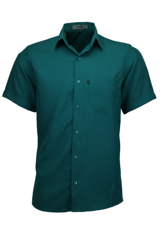camisa social masculina não amassa microleve manga curta top