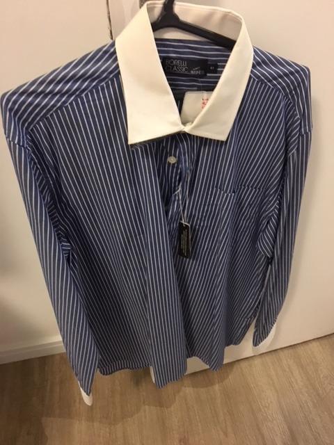 b7745968cb4 Camisa Social Masculina Para Terno Borelli Tamanho Gg - R  60