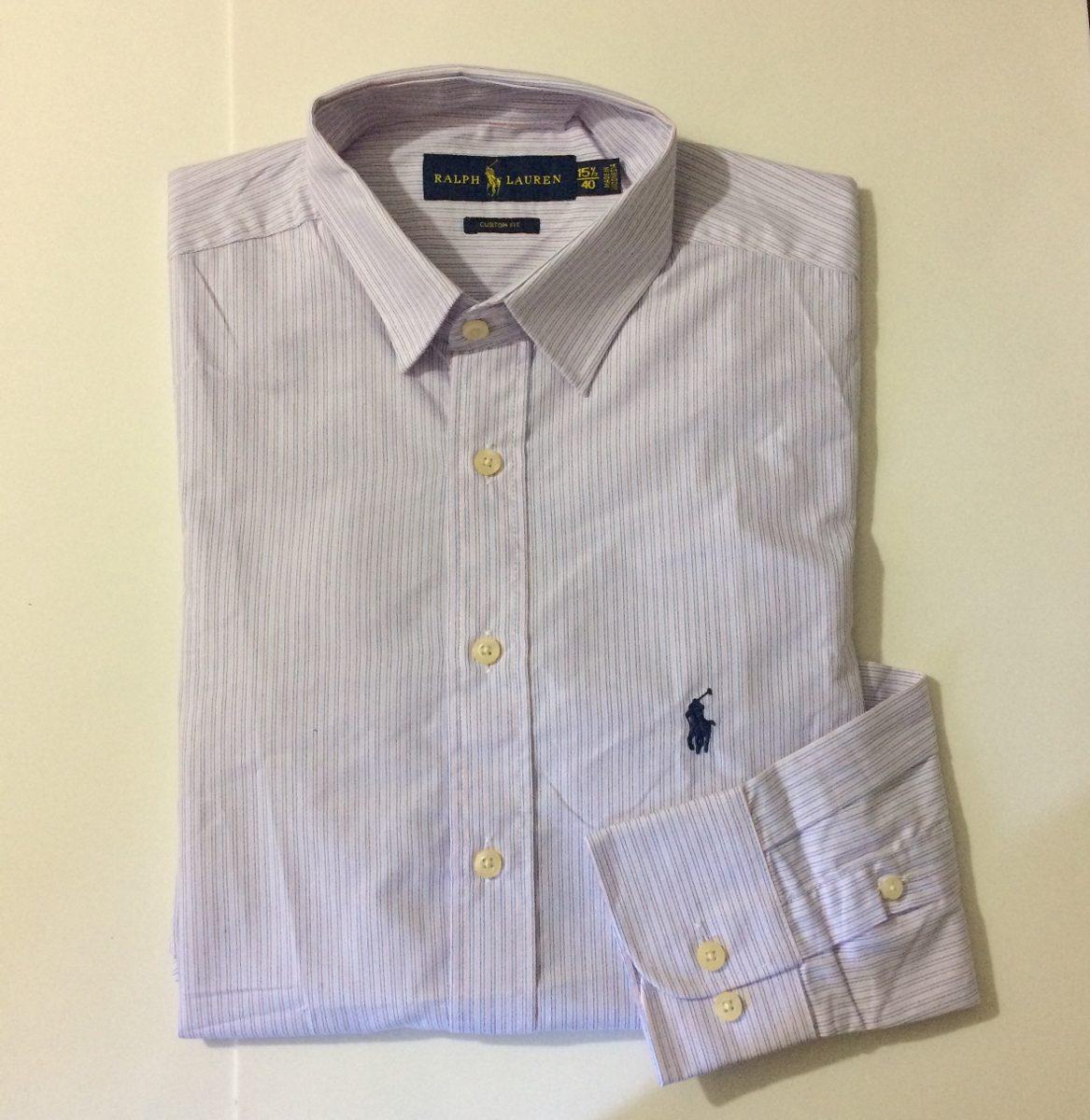 camisa social masculina polo ralph lauren manga longa. Carregando zoom. c01d79856dc