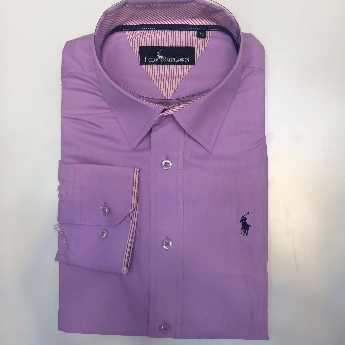 Camisa Social Masculina Ralph Lauren Cor Lilás . - R  85 a2f6245b9fe98