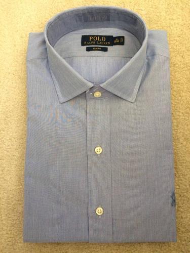 camisa social masculina ralph lauren g (l 17) e gg (xl 18)