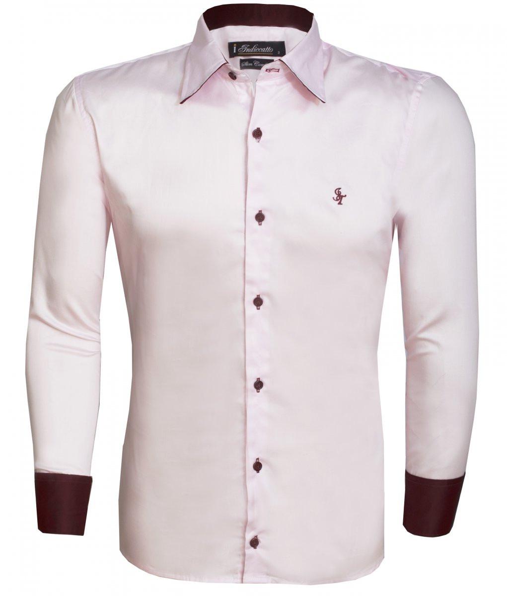 c58789bc5c Camisa Social Masculina Rosa Claro - R$ 35,00 em Mercado Livre