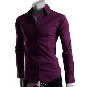 3d155e1d79 Camisa Masculina Slim Roxa Social Tamanho 5 - Camisas com o Melhores Preços  no Mercado Livre Brasil
