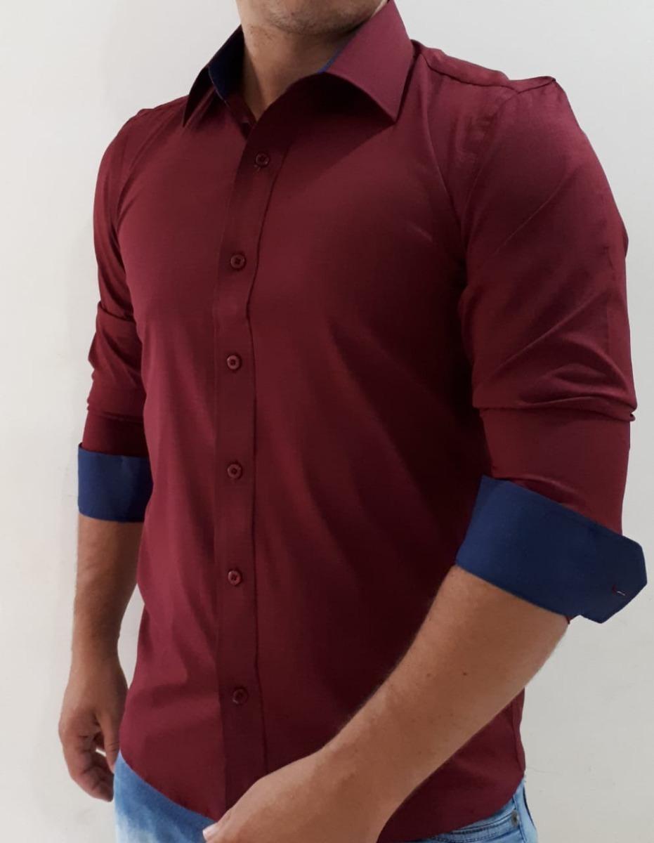 2e66c6d876 camisa social masculina slim fit barata menor preço do ml. Carregando zoom.