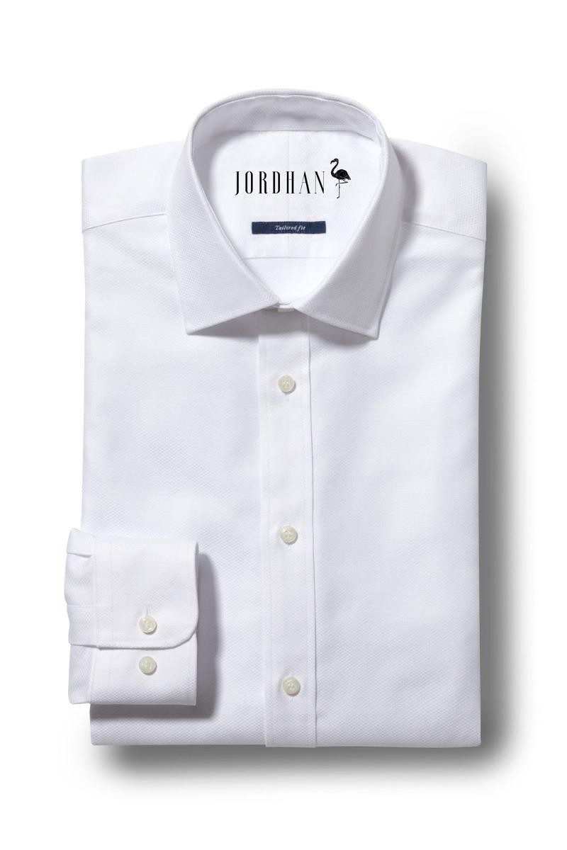 d23d7b7cd6 Camisa Social Masculina Slim Fit Branco Algodão Egípcio - R  280
