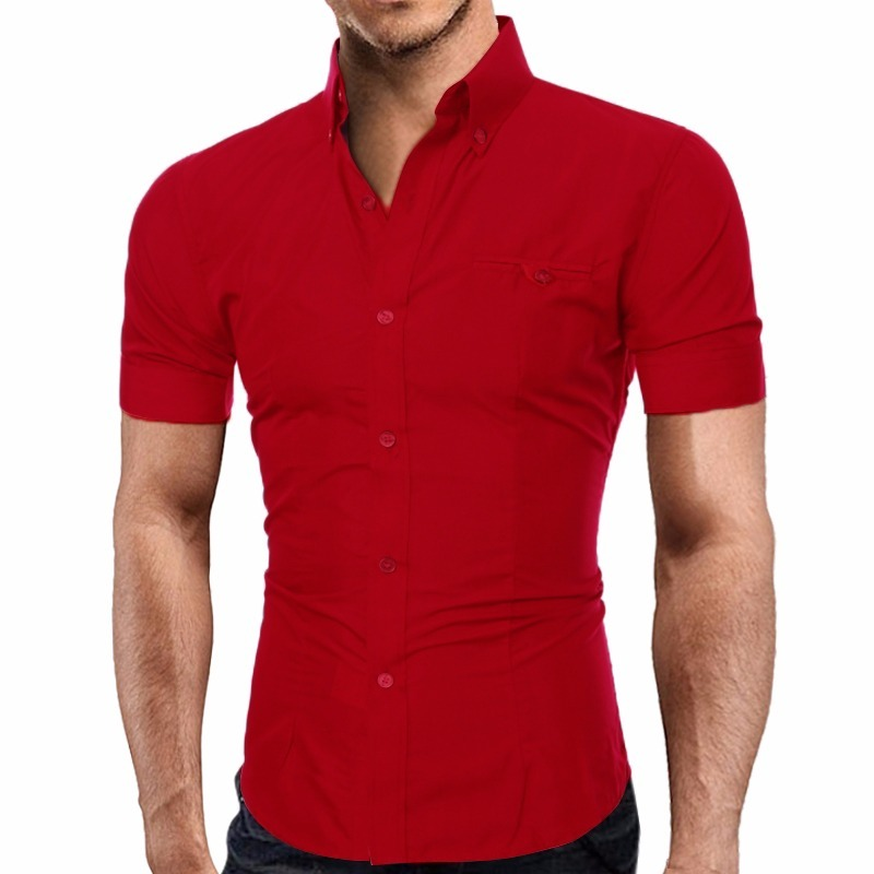 0d9551ee67 camisa social masculina slim fit camiseta polo manga curta. Carregando zoom.