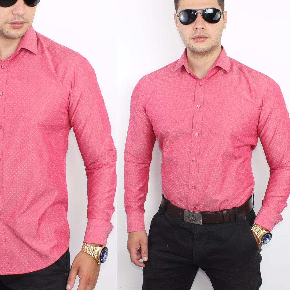camisa social masculina slim fit carlos vivacci - premium. Carregando zoom. 33c420e722201