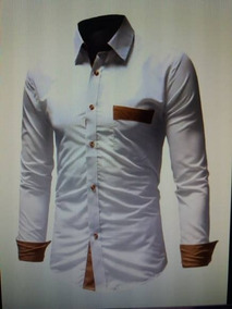 a0b6881ae1 Camisa Social Masculina Slim Fit Moderna Casual M G Gg - Camisa ...
