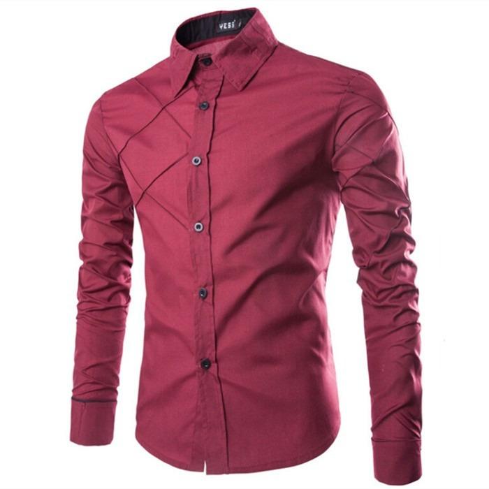 6d0168bc31 Camisa Social Masculina Slim Fit Luxo Importada Premium 3025 - R  84 ...