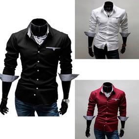 397ffa5e7 Camisa Social Slim Masculina Luxo Várias Cores E Modelos - Calçados ...