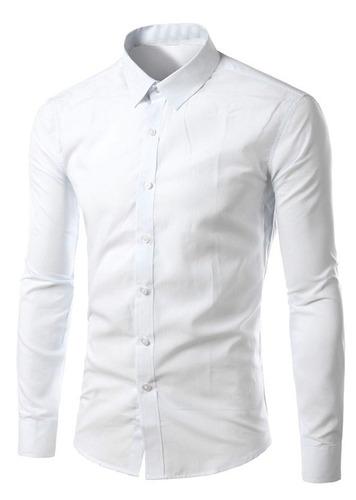camisa social masculina slim fit manga longa moderna luxo as