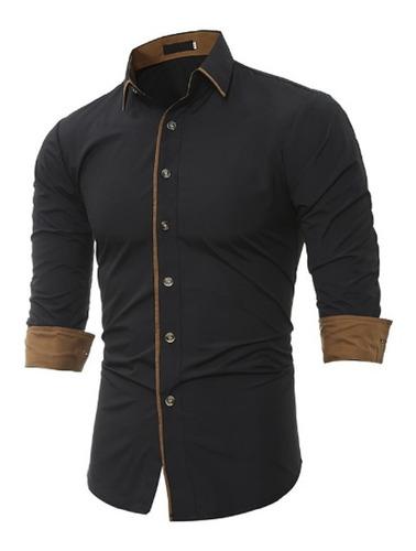 camisa social masculina slim fit noblemen's estilo abu dhabi