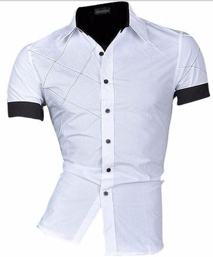 camisa social masculina slim fit noblemen's estilo asiático