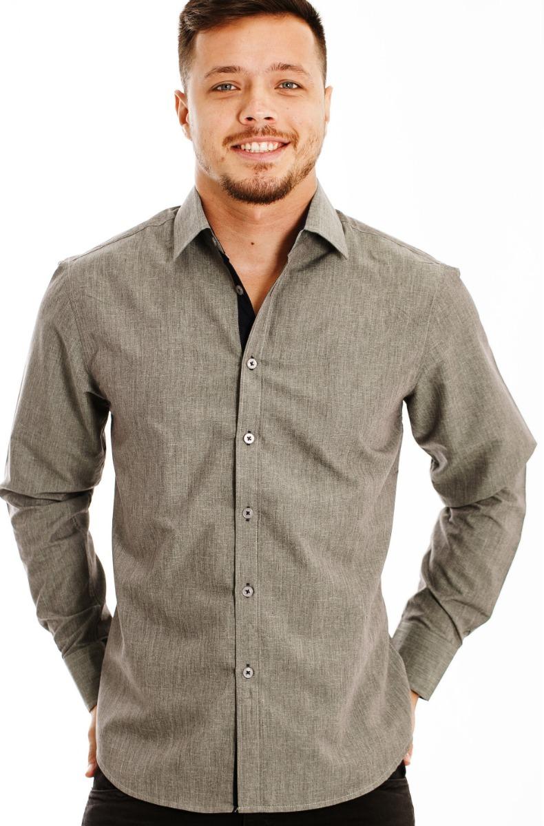 28d8961113 camisa social masculina slim fit para trabalho ou uniforme. Carregando zoom.