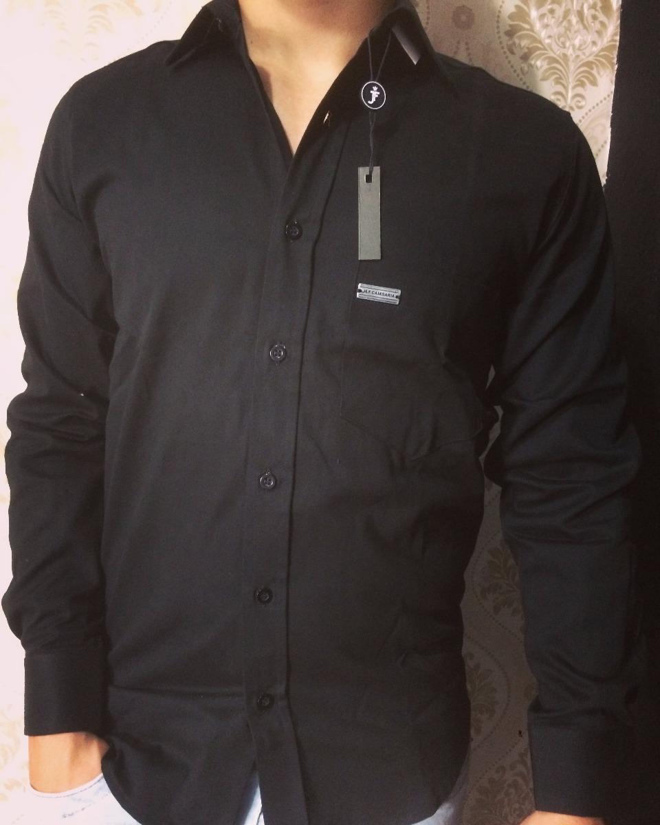 410d84a96b camisa social masculina slim fit preta original manga longa. Carregando  zoom.