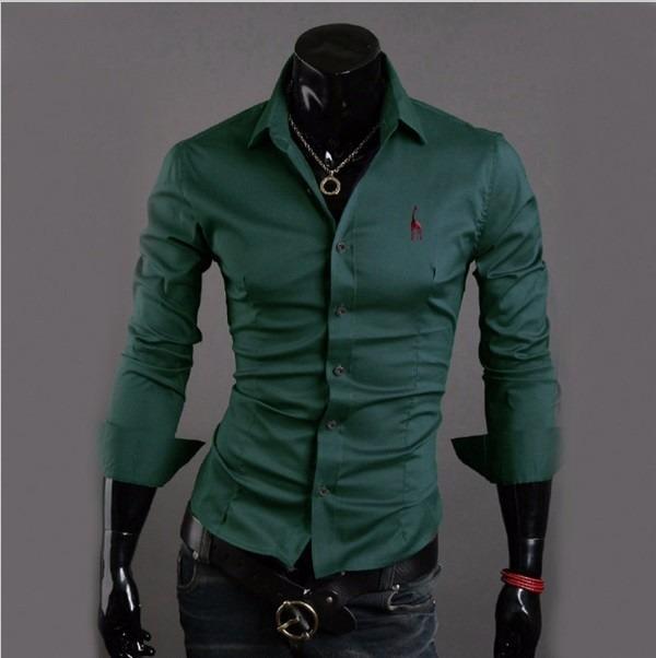 44c60c2b0a Camisa Social Masculina Slim Fit Top Fashion - R$ 61,00 em Mercado Livre