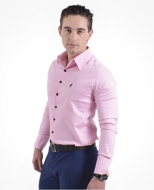 91e5c7a997 Camisa Social Masculina Slim Manga Longa Premium - R  189