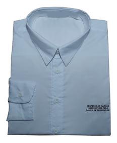 f7e7c2d00a Camisa Social Masculina Desenhada Tamanho G Masculino Bahia - Camisa Formal  Longa Azul-aço com o Melhores Preços no Mercado Livre Brasil