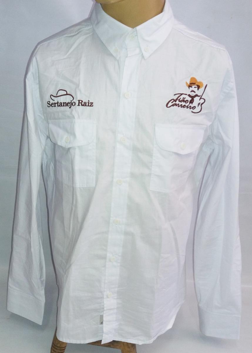 a82c08a8d2f35 camisa social masculina tião carreiro branca manga longa. Carregando zoom.