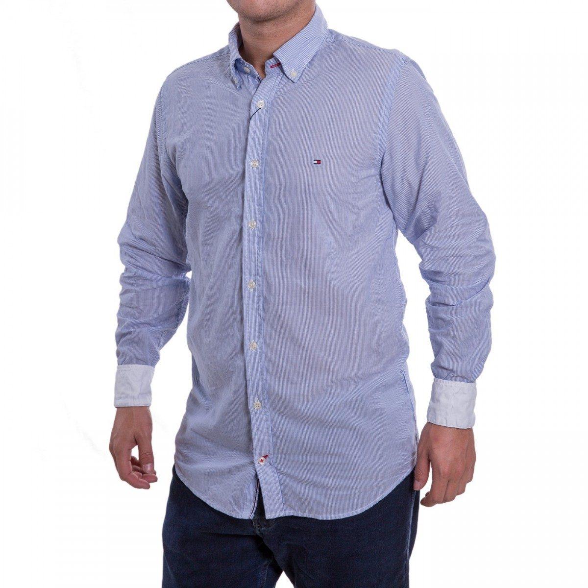 dce4825fe95 camisa social masculina tommy hilfiger slim fit manga longa. Carregando  zoom.