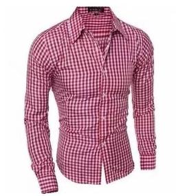 f202e9fd6e Camisa Social Slim Fit Xadrez Importada Frete Grátis - Calçados ...