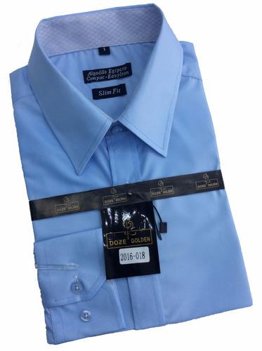 camisa social masculino slim fit