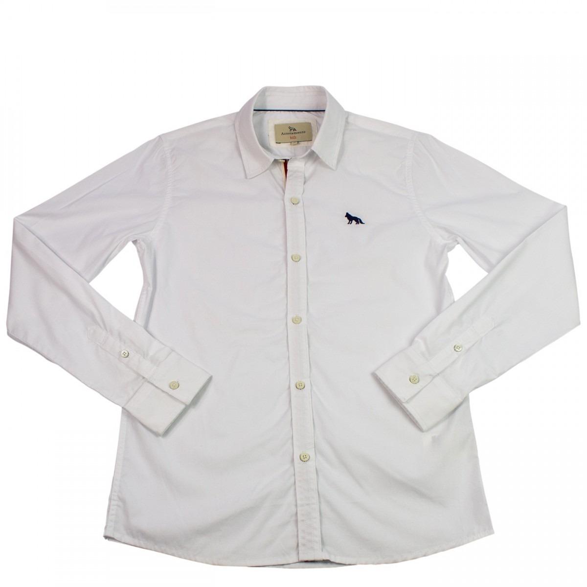 bd7a46d17fbb4 Camisa Social Infantil Menino Acostamento Manga Longa - R  198
