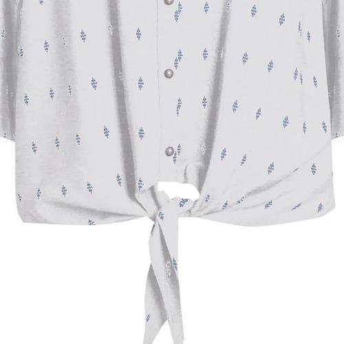 camisa social nó cintura manga 3/4 seiki 621204 viscopoly
