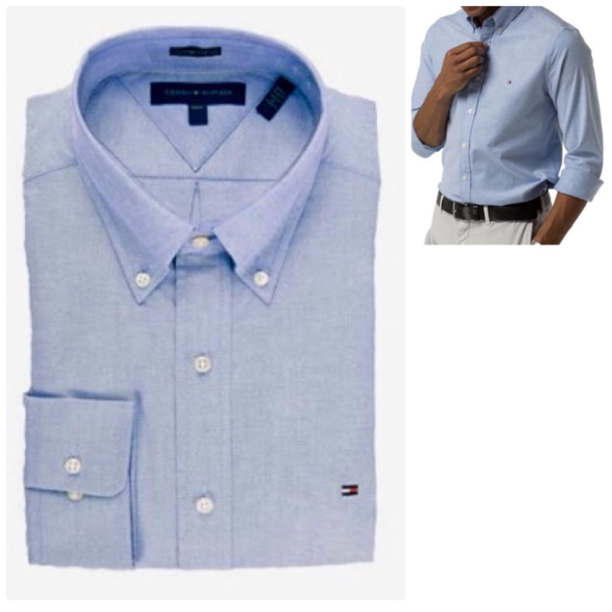camisa social oxford tommy hilfiger original g 100% algodão. Carregando zoom . 70c353b9aa385
