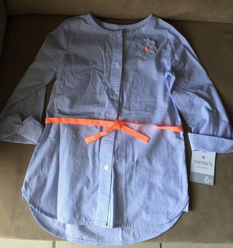 camisa social para meninas carter's - 06 anos