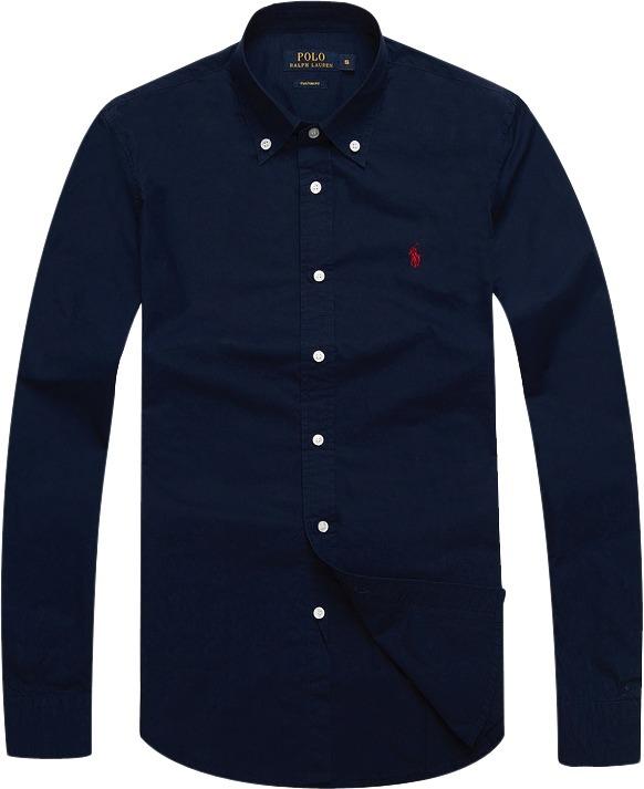Camisa Social Polo Ralph Lauren Azul Marinho Pronta Entrega - R  219 ... 4026319227b