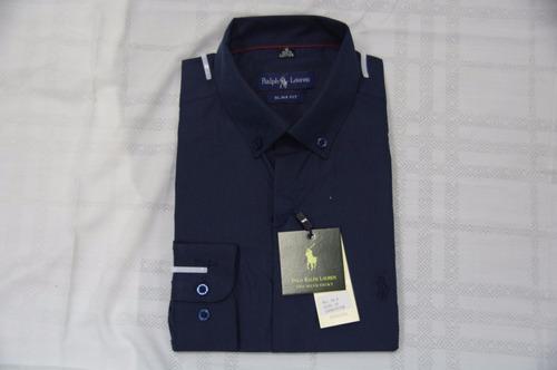 camisa social polo ralph lauren manga longa masculina