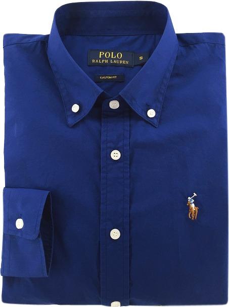 1944d18076ca4 Camisa Social Polo Ralph Lauren Masculina Azul Pronta Entrga - R ...