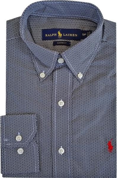 Camisa Social Polo Ralph Lauren Masculina Estampada Preta - R  199 ... 8d0f7748a7c