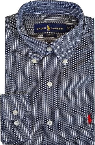 camisa social polo ralph lauren masculina estampada preta