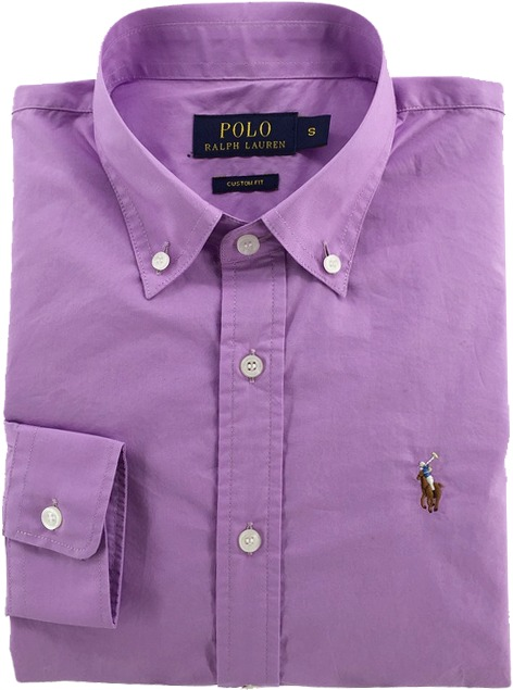 1a51a52340638 Camisa Social Polo Ralph Lauren Masculina Lilás Pronta Entga - R ...