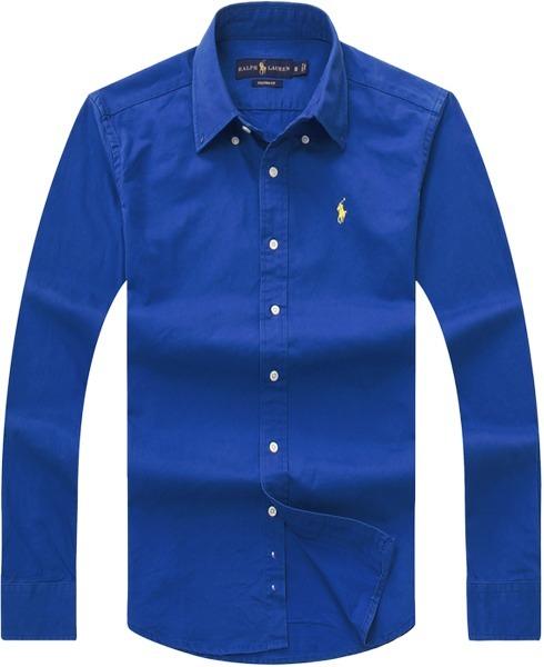53de4396cb Camisa Social Polo Ralph Lauren Masculina Oxford Azul - R  199