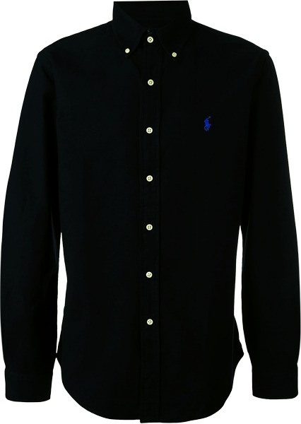 51b30da338 Camisa Social Polo Ralph Lauren Masculina Oxford Preta - R  199