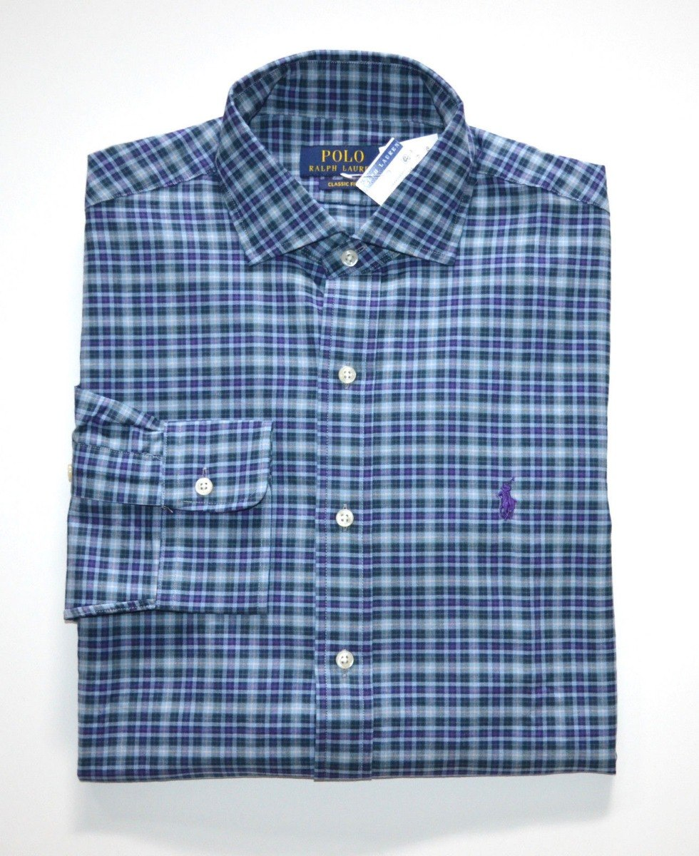 eb5e18363a camisa social polo ralph lauren tamanho g   l classic fit. Carregando zoom.