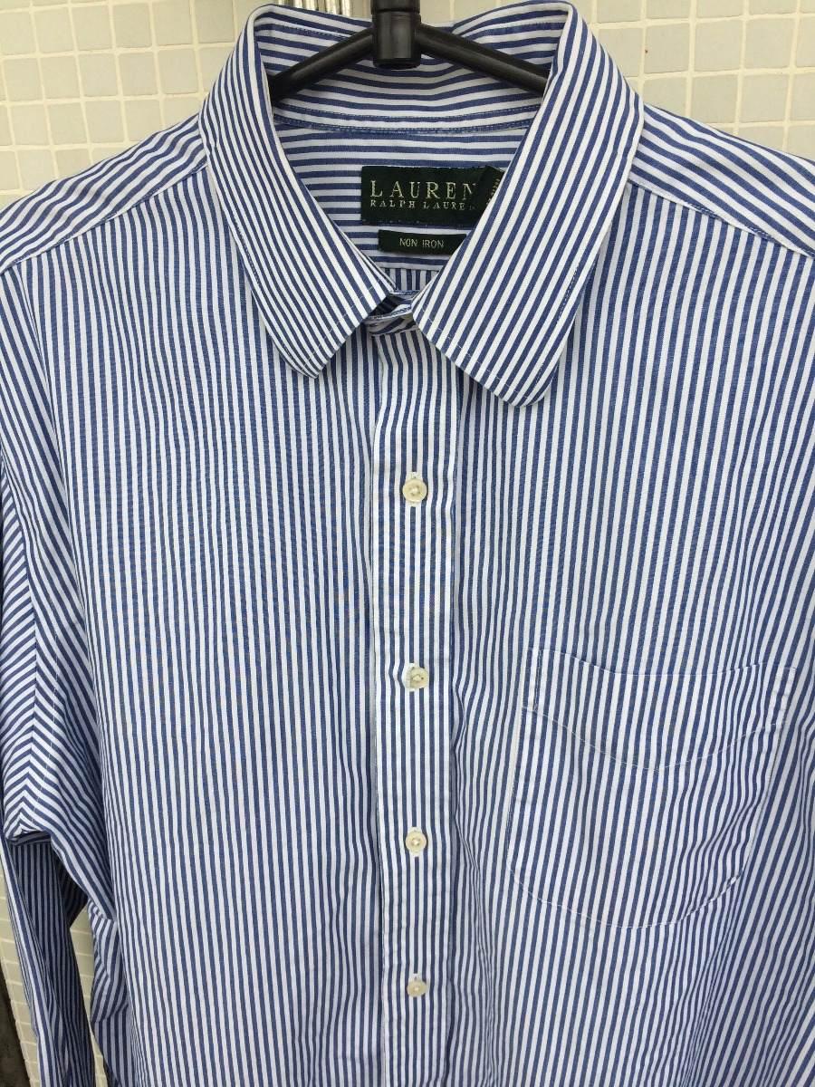camisa social ralph lauren azul e branca listrada g. Carregando zoom. b0610d8c1c8