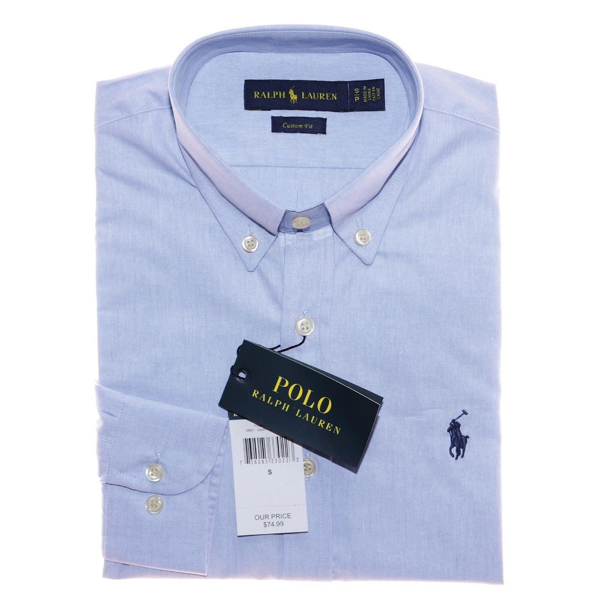 33c4164ac9f40 camisa social ralph lauren c fit azul claro masc original. Carregando zoom.
