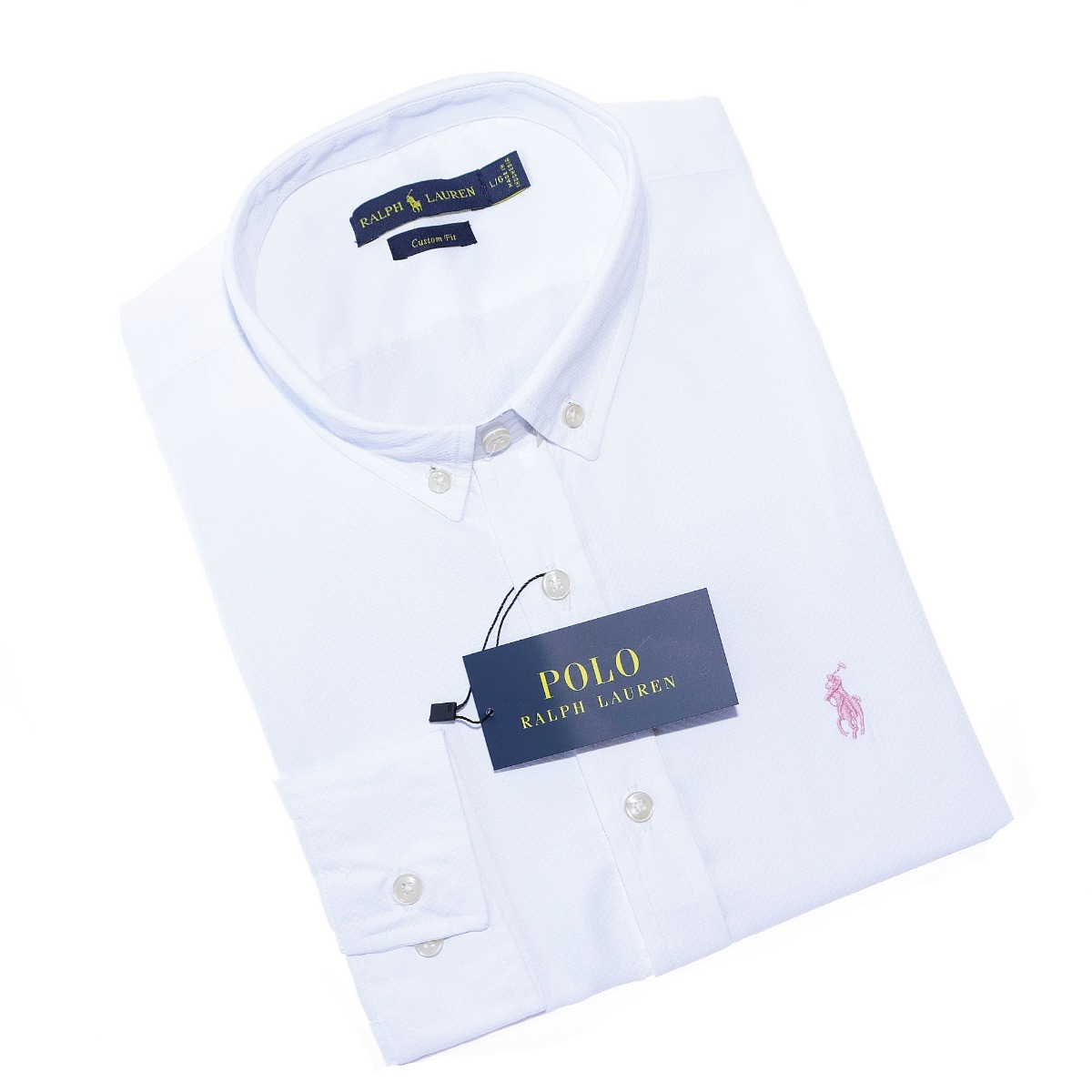 ... camisa social ralph lauren cfit branca texturizada original. Carregando  zoom. 8d801bc433f93