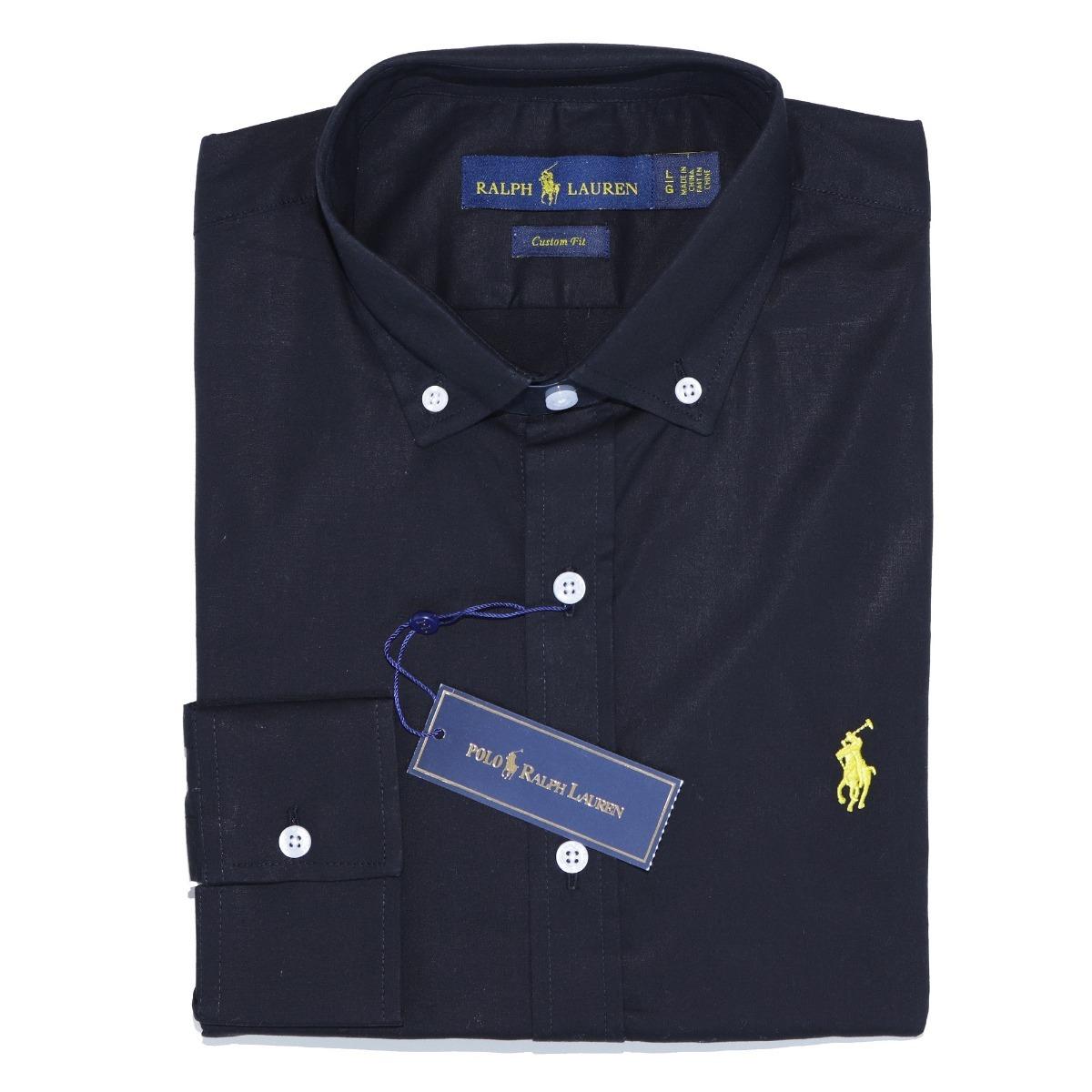 camisa social ralph lauren csfit preta pony amarelo original. Carregando  zoom. 27fcfcb101f