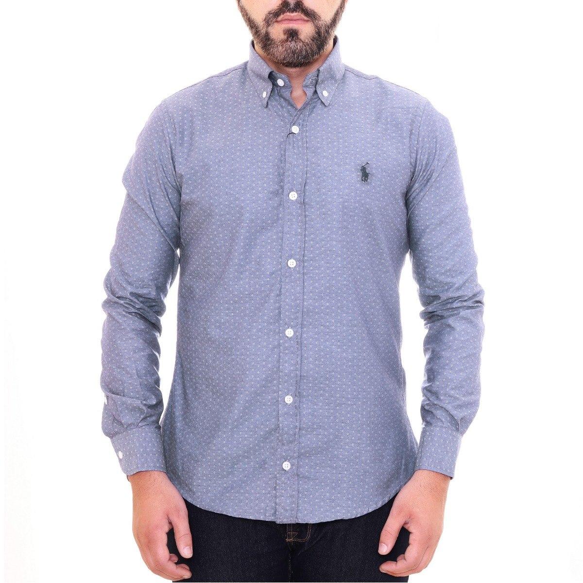 camisa social ralph lauren cst fit cinza tricoline original. Carregando  zoom. 63ad674bc98
