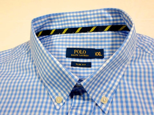 camisa social  ralph lauren light blue slim fit fret grátis