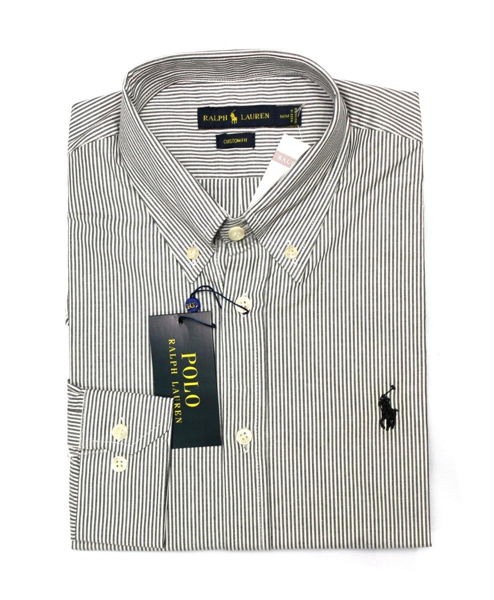 camisa social ralph lauren listrada cinza. Carregando zoom. 3a1e4f23a83