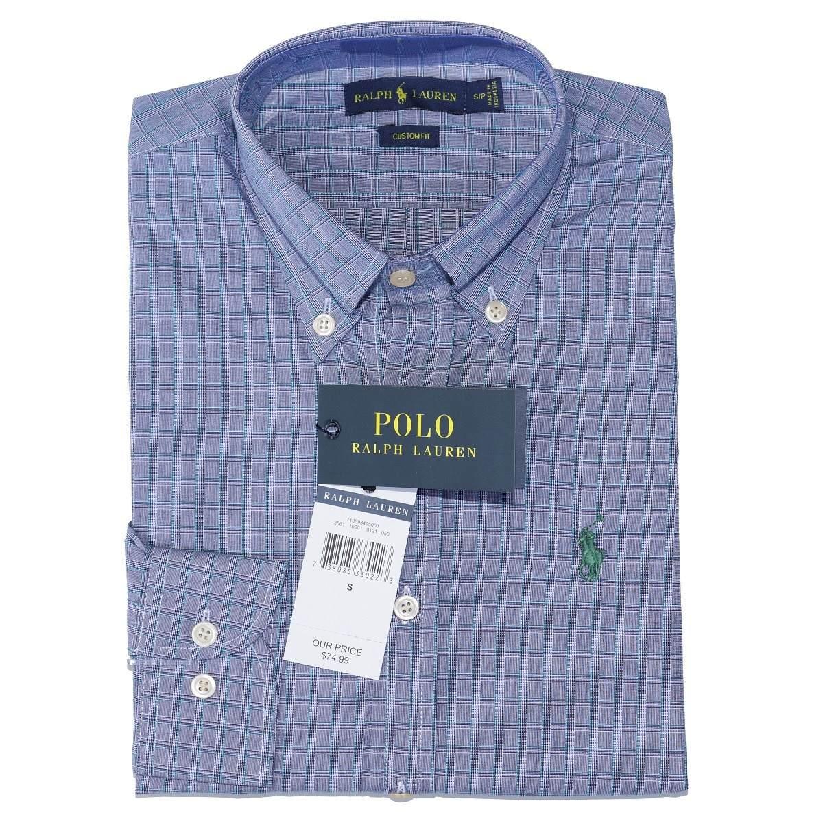 camisa social ralph lauren masc c fit cinza xadrez original. Carregando  zoom. 5cd1cd3f72b
